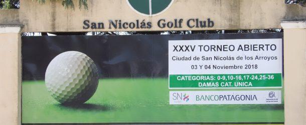 XXXV TORNEO ABIERTO  CIUDAD DE SAN NICOLÁS DE LOS ARROYOS 3 DE NOVIEMBRE BANCO PATAGONIA.